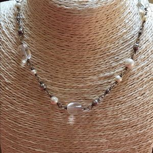 SILPADA Necklace White Pearl Crystal & Sterling